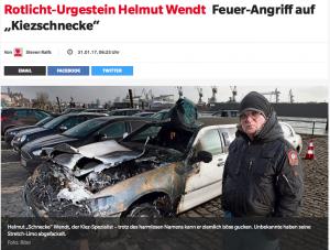 """Feuer-Angriff auf """"Kiezschnecke"""""""