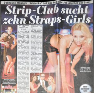 Strip Club sucht zehn Straps-Girls